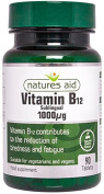 Vitamin B12, 1000mcg - 90 tablets by Nature's Aid mm