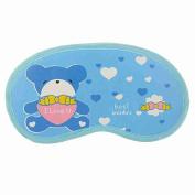 Move & Moving(TM) Cartoon Bear Print Blue Eye Patch Soft Sleep Mask Shade