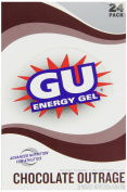 GU Original Sports Nutrition Energy Gel, Chocolate Outrage, 24-Count