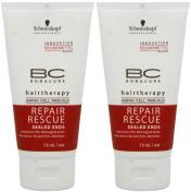 Schwarzkopf BC Bonacure Repair Rescue Sealed Ends 80ml Pack Of Two