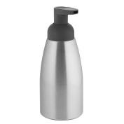 InterDesign Metro Rustproof Aluminium Foaming Soap Dispenser Pump, for Kitchen or Bathroom - Brushed/Matte Charcoal