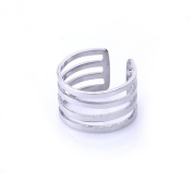 Fashion Jewellery Stainless Steel Classic Adjustable Size Articular Ring Women's Finger Ring