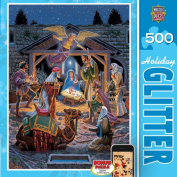 Masterpieces Holy Night Holiday Glitter Jigsaw Puzzle
