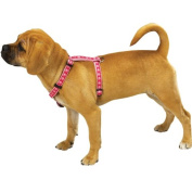 Two Tone Pawprint Pet Harness - Pink