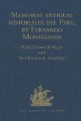 Memorias Antiguas Historiales del Peru, by Fernando Montesinos