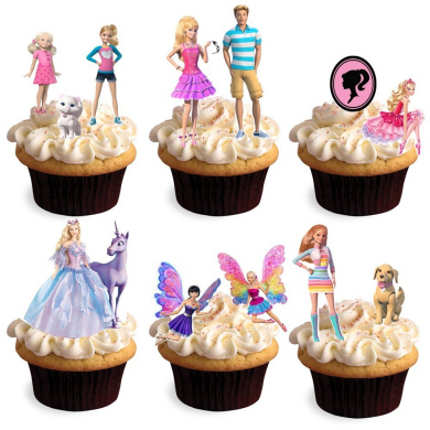Edible Cake Decorations Nz : 30 Stand Up Barbie Dreamhouse Swan Lake Nutcracker Edible ...