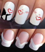 WATER NAIL TRANSFERS DECALS STICKERS ART SET #618 & 172. **plus x48 nail tip guides!!** x24 SENDING YOU MY LOVE GIRL BLOWING HEARTS TATTOO WRAPS & x48 FRENCH MANICURE TIP GUIDES! CAN BE USED WITH NATURAL GEL ACRYLIC STICK ON NAILS! OR WITH GLITTER DUST ..