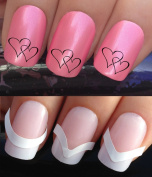 WATER NAIL TRANSFERS DECALS STICKERS ART SET #624 & 172. **plus x48 nail tip guides!!** x24 VALENTINES WEDDING DAY ENGAGEMENT PARTY INTERLINKED LOVE HEARTS TATTOO WRAPS & x48 FRENCH MANICURE TIP GUIDES! CAN BE USED WITH NATURAL GEL ACRYLIC STICK ON NAI ..