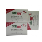 THREE PACKS of Sebamed Cleansing Bar (Soap Free) x 100g