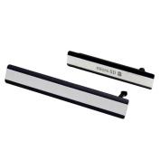 Sony Xperia Z2 Side Cover Set USB jack cover / SIM card cover - Black