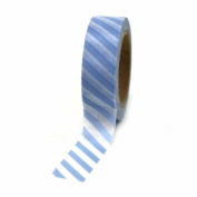 Dress My Cupcake Washi Paper Tape, Striped, Baby Blue