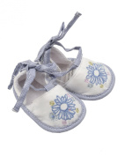 Max and Tilly Baby Girl Bluebird Embroidered Soft Shoes