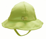 Olliboo Large (12/18m)Unisex Organic Cotton Bucket Style Sun Hat with Adjustable Chin Strap - Green