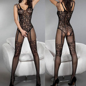 Sexy stockings fishnet full body stocking lingerie dress