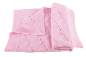 Girls Luxury 100% Cashmere Baby Blanket - 'Baby Pink' - hand made in Scotland by Love Cashmere - RRP £160
