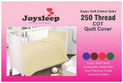 Love2Sleep ULTIMATE LUXURY 250 TC COTTON SATIN COT BED DUVET COVER & PILLOWCASE SET SATIN STRIPE CREAM