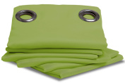 Ideenreich Sleep Well 2050 Opaque Blackout Curtain 260 x 145 cm Apple Green