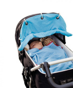 EJY Blue Baby Pram Shade Stroller Pushchair Sunshade Curtain Sun Covers
