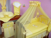 Lux4Kids Children bedding bed set 135x100 nest changing mat sky including rod Mobile pillows fitted paints 20 Yellow Cloud