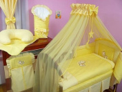 Lux4Kids Children bedding bed set 135x100 nest changing mat sky including rod Mobile pillows fitted paints 06 Yellow Moon