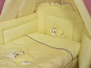 Lux4Kids Children bedding bed set 135x100 nest changing mat sky including rod Mobile pillows fitted paints 19 cloud Ecru