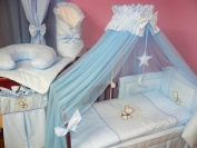 Lux4Kids Children bedding bed set 135x100 nest changing mat sky including rod Mobile pillows fitted paints 03 Blue Moon