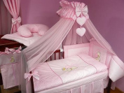 Lux4Kids Children bedding bed set 135x100 nest changing mat sky including rod Mobile pillows fitted paints 13 Pink Heart
