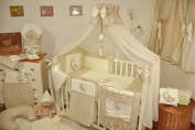 Lux4Kids Children bedding bed set 135x100 nest changing mat sky including rod Mobile pillows fitted paints 07 Moon Ecru & Brown