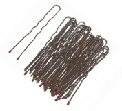 1 Pack of 36 Brown Waved Hairpins. Suitable for Dark Hair / Brunettes - Brown