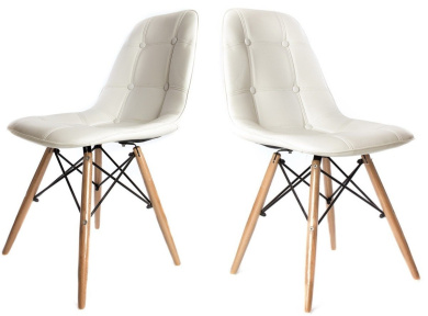 Replica Charles Eames DiningOffice Chair x2 PAIR in White with