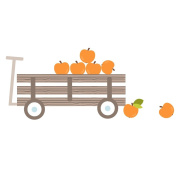 Apple cart wall sticker by Stickerscape - farm theme - removable - wall decal - wall graphic - wall art