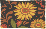 Jellybean Prairie Sunflowers Accent Area Rug