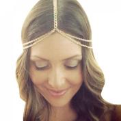 Suppion Women Fashion Metal Head Chain Jewellery Headband Head Piece Hair Band