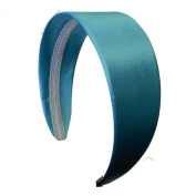 5.1cm Wide Satin Hard Headband No Teeth Hair Band