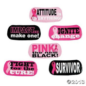 72 Sassy PINK RIBBON/Temporary TATTOOS/Breast Cancer AWARENESS/Fight LIKE A Girl/Fight/CURE/Win/FUNDRAISER/PARTY favours/6 DOZEN