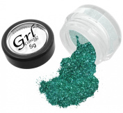 Grl Cosmetics Cosmetic Glitter Makeup for Face, Eyes, Lips, Nails and Body - GL17 Teal, 5 Gramme Jar