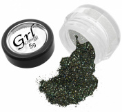 Grl Cosmetics Cosmetic Glitter Makeup for Face, Eyes, Lips, Nails and Body - GL68 Black Jewels, 5 Gramme Jar