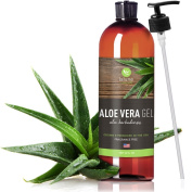 Aloe Vera Gel - 350ml - Internal & External Use - La Lune Naturals Aloe Vera Gel for Face, Hair, Sunburn, Natural Skin Moisturiser, Acne Treatment, Scar Removal, Bug Bites, Razor Burn Bumps - Made from 100% Pure Certified Organic Aloe Vera Plant