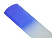 Genuine Czech Cobalt Blue Crystal Glass 16cm Spa Bar Slab Foot File
