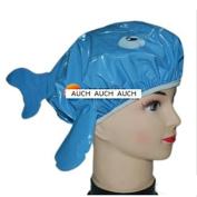AUCH New/Durable/Cute Bouffant Cartoon Dolphin Design Blue/Purple Random Colour Waterproof Double Layer Children/Kids Shower Cap/Hat/Spa Lovely Bathing Caps