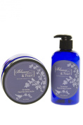 Blossom and Pearl French Lavender Deep Sea Cosmetics Bundle - Lavender Hand and Body Lotion, Lavender Dead Sea Bath Salt. Dead Sea Salt products.