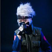 Sunny-business Anime Naruto Soul Eater Short Kakashi Hatake Cosplay Wigs+headband+gloves