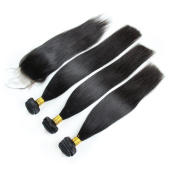 Carina Hair Malaysian Straight Hair Weft 4Pcs/Lot Size:60cm 70cm 70cm +50cm closure