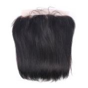 Enoya Hair Free Shipping Brazilian Virgin Hair Straight 33cm x 10cm Silk Base Lace Frontal