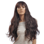 Capless Brown Curly Long Synthetic Wig 5070