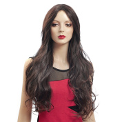 Capless Brown Long Curly Synthetic Wig 5050