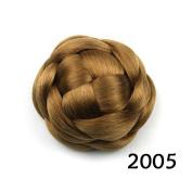 Hair Chignon Synthetic Donut Roller Hairpieces Clip-In Hair Buns Fake Hair Bun