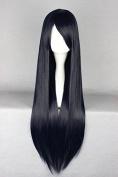 springcos 80cm Long Women Straight Dark Navy Cosplay Party Wigs Prison School