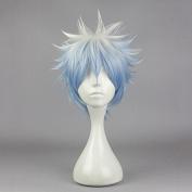 springcos Sakata Gintoki GINTAMA Cosplay Short Wig Ombre