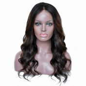 Hi-Light Wave Lace Front Wigs Ombre Brazilian Human Hair Glueless 100% Density.